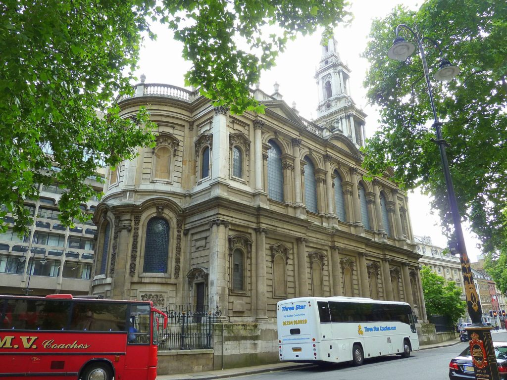 St Mary Le Strand Church in Strand, London in England
