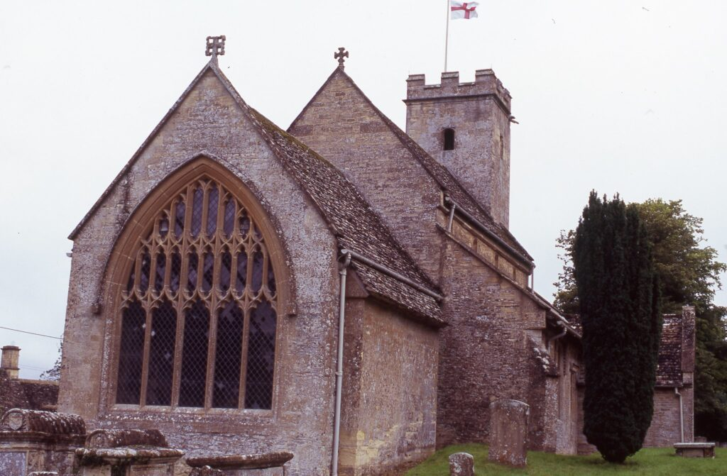 St Mary's Chirch in Swinbrook, Oxfordshire, England