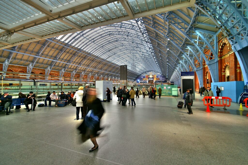 St Pancras International Station in London, England