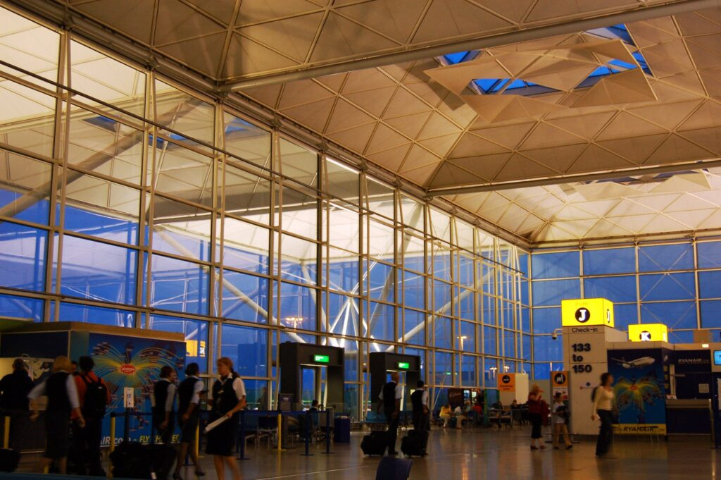 London Stansted Airport, Essex in England