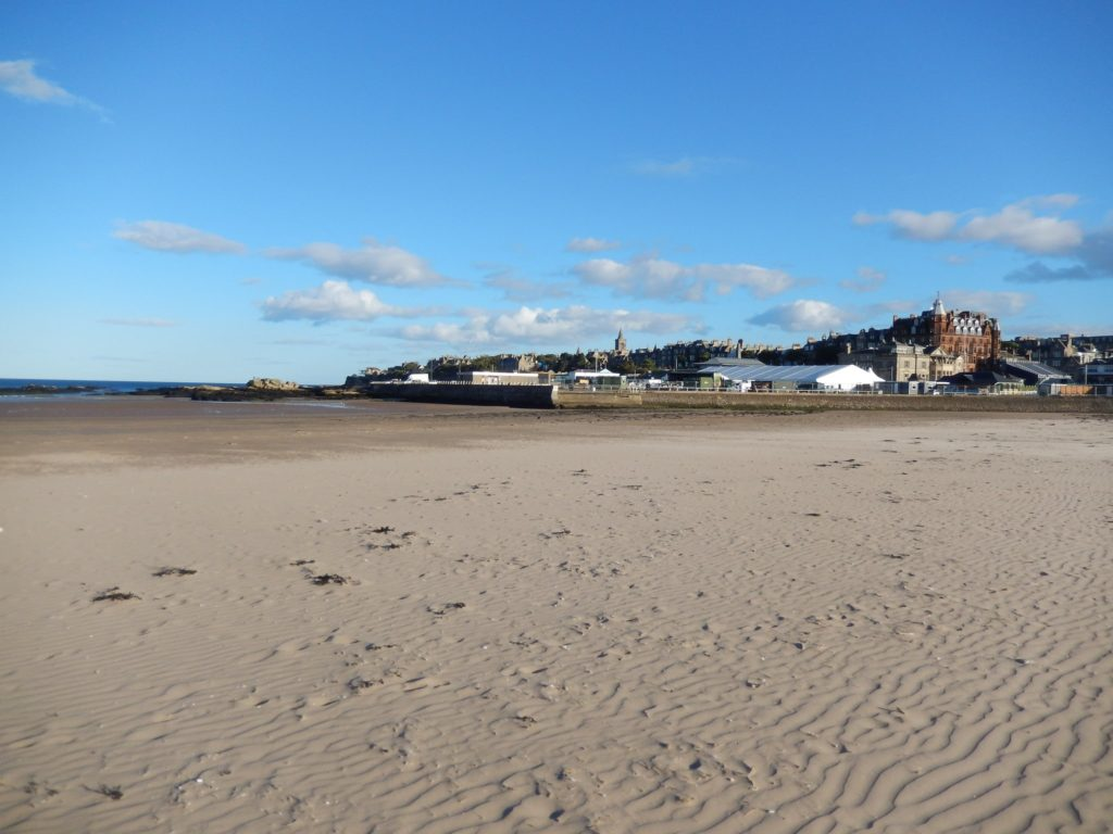 West Sands Beach in St Andrews, Scotland Chariots of Fire Film Location