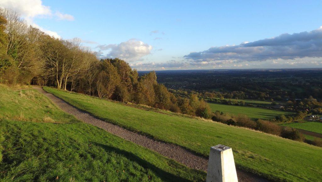 Box Hill on Zig Zag Road in Buckinghamshire, England