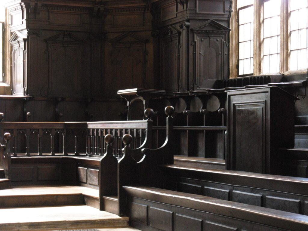 Convocation House in Bodleian Library at the University of Oxford in Oxford, England