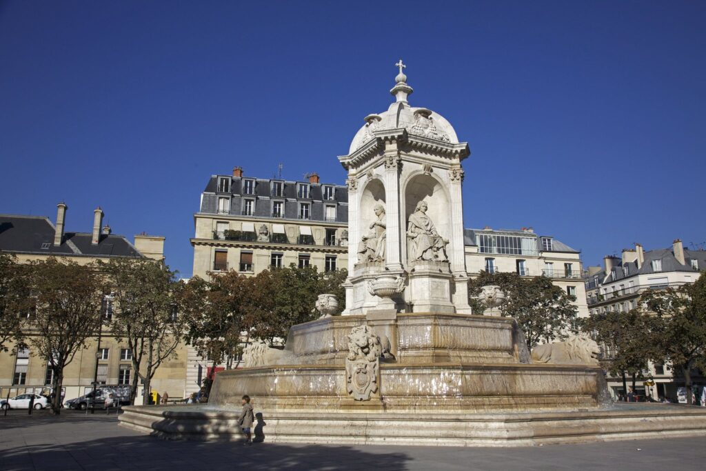 Fontaine Saint-Sulpice, 76 Rue Bonaparte in Paris, France Sex and the City Filming Location