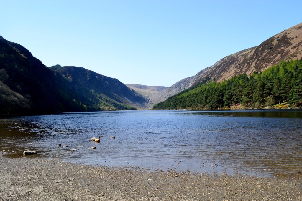 Upper Glendalough Lake in County Wicklow, Ireland Leap Year Filming Location