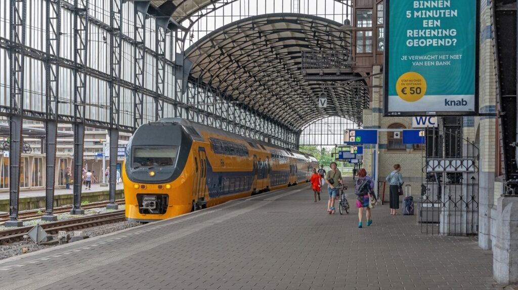 Haarlem Station in the Netherlands