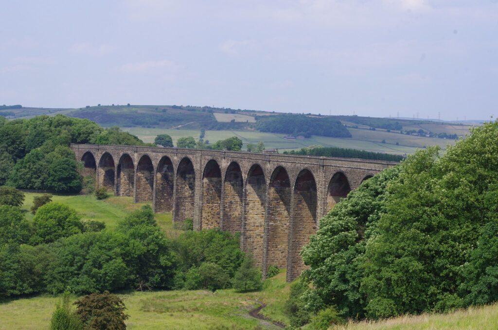 Hewenden Viaduct in West Yorkshire, England Swallows and Amazons Film Location