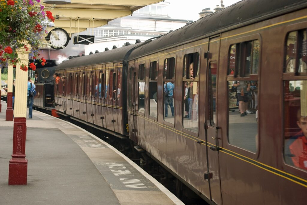Keighley Railway Station in Bradford, West Yorkshire in England Swallows and Amazons Film Location
