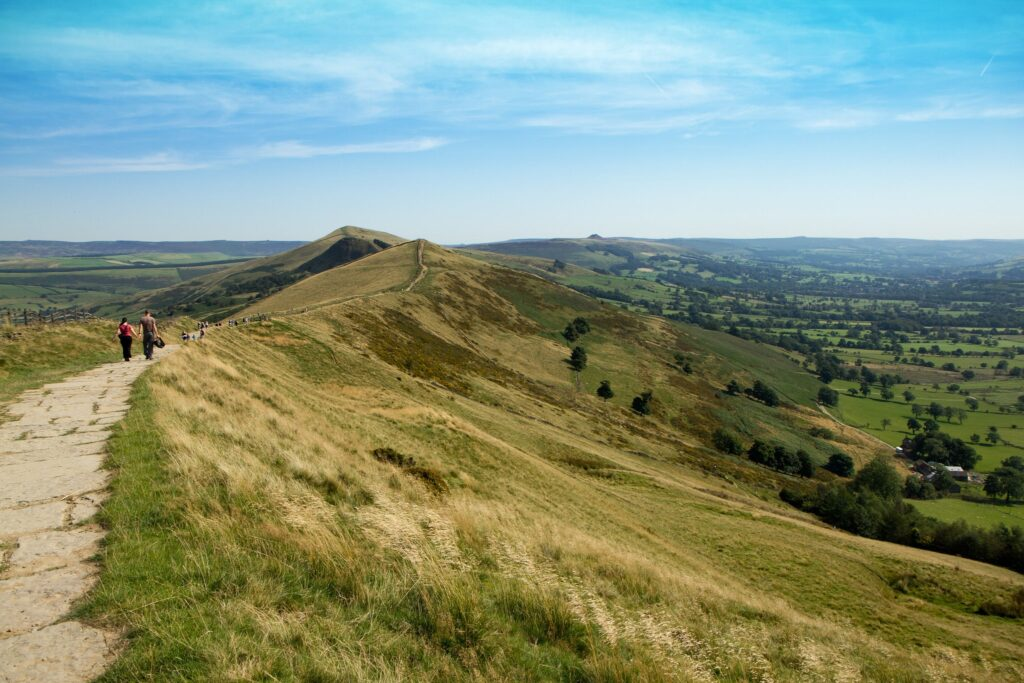 Mam Tor in High Peak, Derbyshire 24 Hour Party People Filming Location