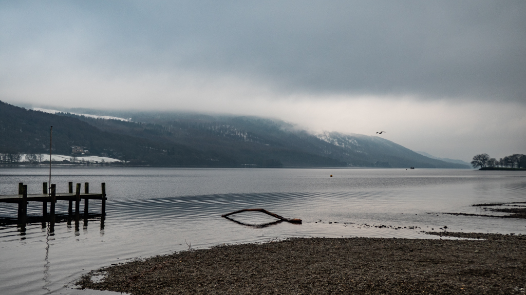 Coniston Water in the Lake District, England
