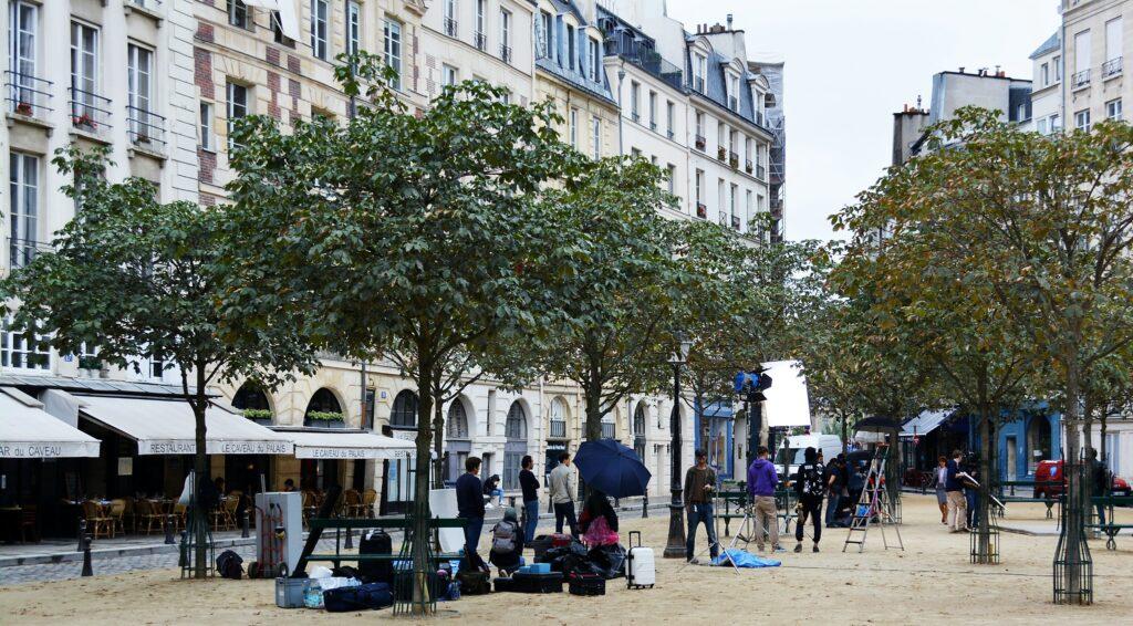Place Dauphine in Paris, France