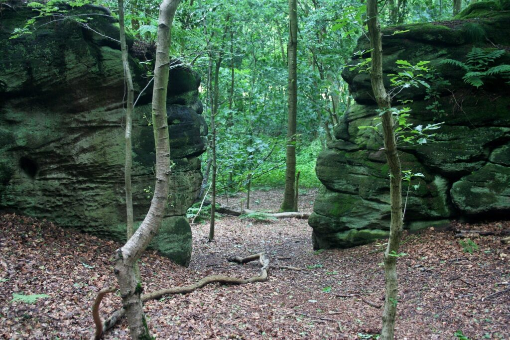 Plumpton Rocks in Knaresborough, North Yorkshire in England Swallows and Amazons Film Location