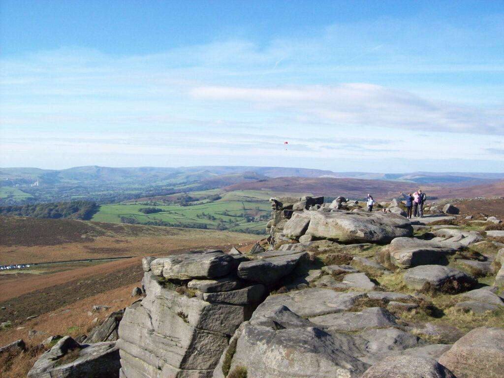 Stanage Edge on Hathersage Moor, Hope Valley in Derbyshire, England Pride and Prejudice Filming Location