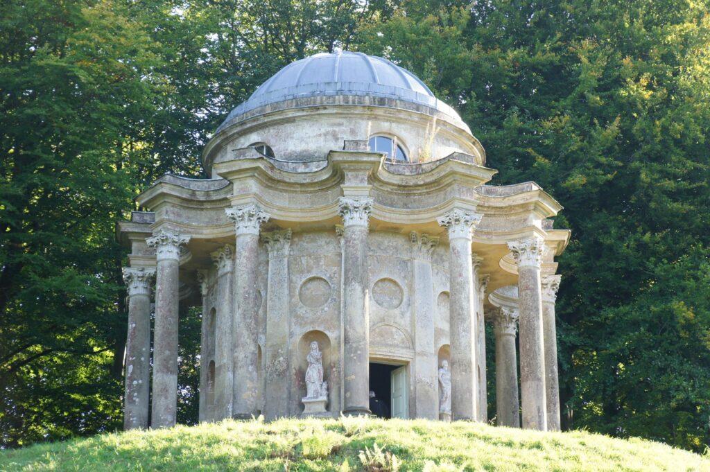 Temple of Apollo, Stourhead Gardens in Wiltshire, England Pride and Prejudice Filming Location