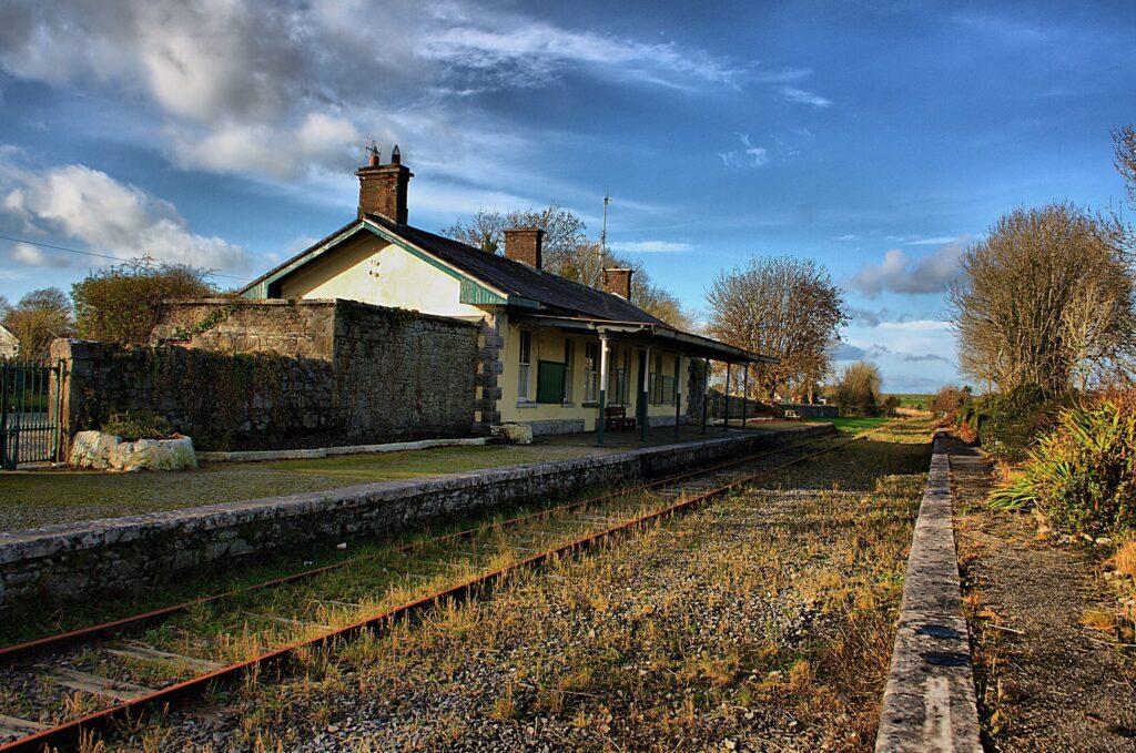 Ballygunin Railway Station in County Galway, Ireland The Quiet Man Filming Location