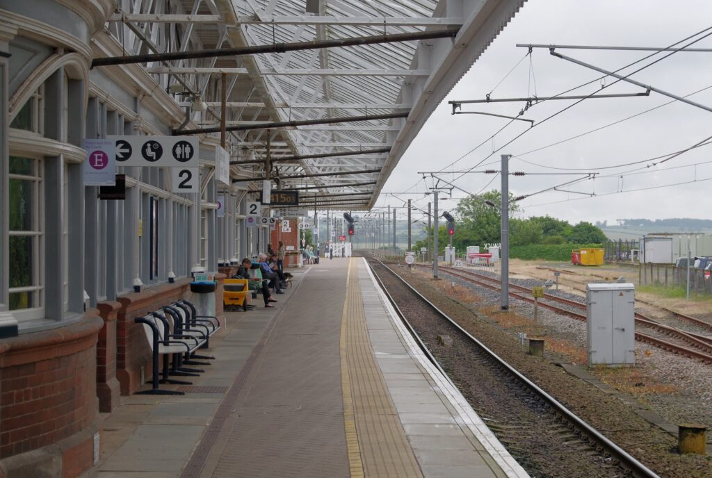 Berwick-Upon-Tweed Railway Station in Northumberland, England