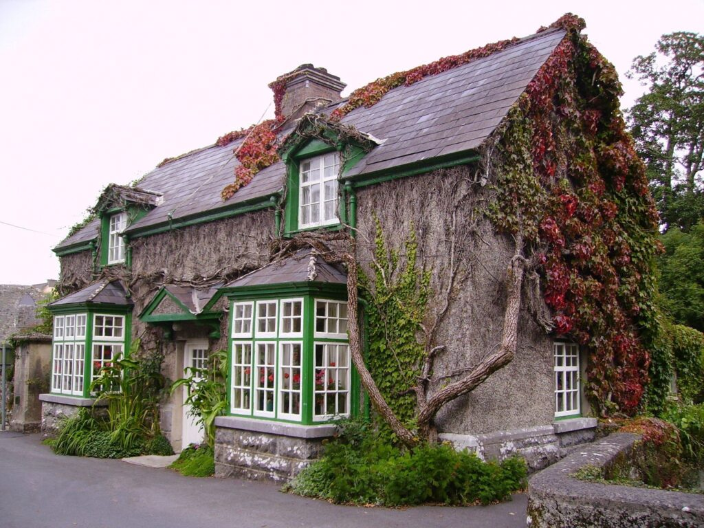 Reverent Playfair's House in Cong, County Mayo in Ireland The Quiet Man Filming Location