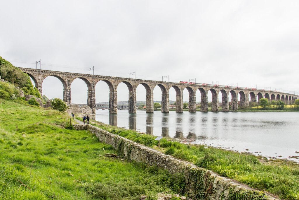 Royal Border Bridge in Berwick-Upon-Tweed, Northumberland in England The Railway Man Filming Location